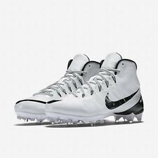 NEW Nike CJ3 FLYWEAVE ELITE TD New Men's WHITE Black Football Cleats Shoes. Sz 9
