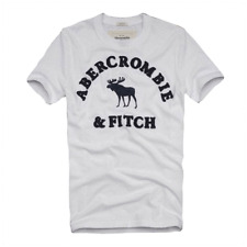 XXL abercrombie and fitch by hollister crew neck t tee shirt in White