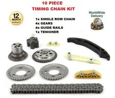 FOR LAND ROVER DEFENDER 2.4 TD4 2007-- ON NEW 10 PIECE TIMING CHAIN KIT + GEARS