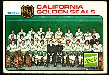 1975 76 OPC O PEE CHEE 82 CALIFORNIA GOLDEN SEALS TEAM UNMARKED EX+ HOCKEY CARD
