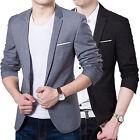 Fashion Men's Slim Fit One Button Stylish Business Blazer Jacket Suit Coat M-6XL
