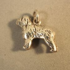 .925 Sterling Silver 3-D OLD ENGLISH SHEEP DOG CHARM NEW Breed Pendant 925 DG35