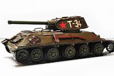 Handmade 1940 USSR T-34 TANK 1:12 Tinplate Antique Style Metal Model