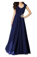 BNWT Navy Maxi Dress Prom Wedding Size Medium Lace Back Floor Length Ballgown