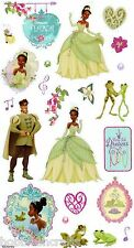 EK SUCCESS DISNEY GLITTER STICKERS - FLOWERS FROGS - PRINCESS TIANIA & THE FROG
