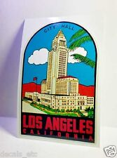Los Angeles California Vintage Style Travel Decal / Vinyl Sticker, Luggage Label