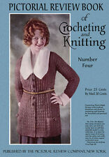 Pictorial Review Book of Crochet & Knitting #4 c.1919 Vintage Fashion Patterns