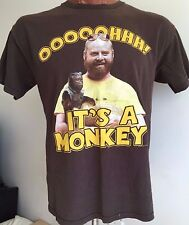 "ADULT HANGOVER ""OH! ITS A MONKEY!"" T SHIRT ZACH GALIFIANAKIS MOVIE TEE LARGE L"