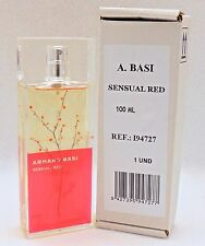 ARMAND BASI SENSUAL RED FOR WOMEN EAU DE TOILETTE SPRAY 100 ML / 3.4 OZ. NEW (T)