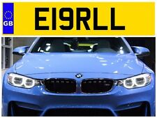 E19 RLL EARL EARLS LORD LORDY EROL ERROL EROLLS PRIVATE NUMBER PLATE JAGUAR BMW