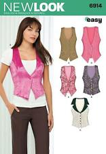 NEW LOOK SEWING PATTERN MISSES' VEST TOP WAISTCOAT SIZE 4 - 18 6914