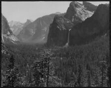 WOW 1936 BRIDAL VEIL FALLS In Yosemite Vally Press Photo