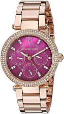 Michael Kors Women's MK6403 Mini Parker Rose Gold-Tone Red MOP 33mm Watch