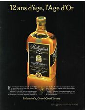 Publicité Advertising 1984 Scotch Whisky Ballantine's