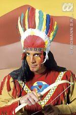 COPRICAPO INDIANO Carnevale Apache Cow Boy Western Costume Accessori 3081L