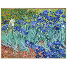 Van Gogh, Irises Deco FRIDGE MAGNET, 1889 Fine Art Reproduction Mini Gift