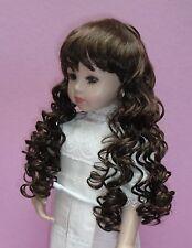 Perruque châtain 38/39cm de poupée porcelaine ancienne et moderne. Doll wig