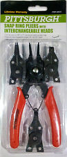 Snap Ring Pliers with 4 Interchangeable Heads Pittsburgh