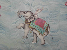 "Zoffany per tende tonnellate ""Jaipur"" 3,8 metri CIELO 100% LINO Indiano Elefanti"