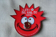 Comic Relief charity red nose day 2003 big hair do pin lapel badge,free u.k.p&p