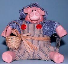 """Russ Berrie Kathleen Kelly, """"Mr. Hogmore"""" pig #2563 garden, country, hog, new"""