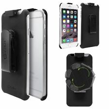 Rubberized Holster Case for Apple With Rotating Swivel Belt Clip iPhone 6S Black