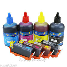 4 COLOR Refillable Cartridges Kit for HP 564/564XL Officejet 4620