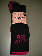 NWT Women's Realtree Girl Merino Wool Blend Socks  Black/Pink 2 Pair #365