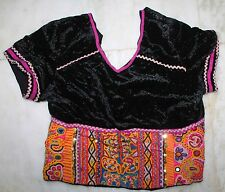 EXOTIC KUTCH RABARI BANJARA GYPSY TRIBE TRADITIONAL EMBROIDERY BLOUSE CHOLI TOP