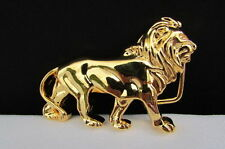 "New Women Shiny Gold Metal Fashion Buckle Big Lion Body 3""/2"" For Thin Belts"