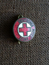 alte Anstecknadel Pin Brosche Abzeichen Deutsches Rotes Kreuz emailliert
