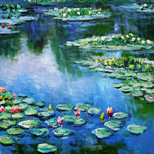 "CLAUDE MONET ~ Water lilies Sea rose 1906 ~ CANVAS ART PRINT Poster ~ 24""X 24"""