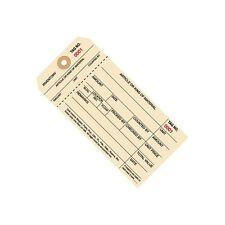 Inventory Tags 1 Part Stub Style #8 (7000-7999) 6 1/4x3 1/8 Manila 1000 Per Case