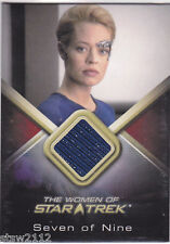 STAR TREK WOMEN OF WCC7 JERI RYAN SEVEN OF NINE 7OF9 COSTUME CARD BLUE FABRIC