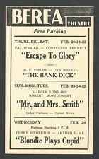 1941 BEREA THEATRE OH SHOWING THE BANK DICK W/W C FIELDS  & MANY OTHERS