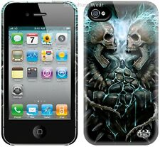 Spiral FLAMING SPINE Apple iPhone 4/4S Mobile Phone Case/Cover tattoo/skull