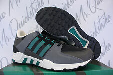 ADIDAS EQT RUNNING SUPPORT SZ 10.5 EQUIPMENT BLACK SUB GREEN CHALK WHITE S32144