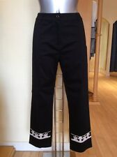 Leslie Trousers Size 12 BNWT Black Cream RRP £155 Now £49