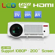 5000Ls HD LED Multimedia Projector LCD 3D Home Cinema Theater HDMI VGA USB 1080P