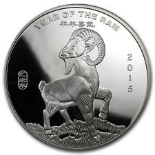 5 oz APMEX Year of the Ram Silver Round - SKU #83110