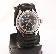 Vostok (Wostok) 2414A komandirskie military watch Zakaz MO USSR. Tank, Red Star