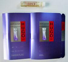 HUGO BOSS PURE PURPLE EDP Women Perfume 2 ml 0.06 fl oz Sample Vial Mini Lot X 2