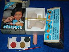 lot 2 vintage MECCANO céramica MECCA HOBBIES jeux ancien de peinture PEINTRE