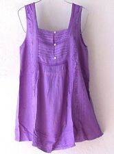 NEW~Lavender Lilac Crochet lace Peasant Blouse Shell Tank Boho Top~4/6/S/Small