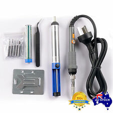 6in1 Electric Soldering Iron 60W Stand Tool Tweezers Kit 240V Solder Stick OZ