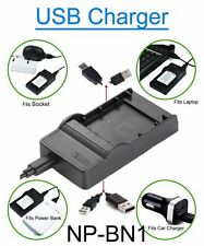 Battery Charger for Sony Cyber Shot DSC-W330BDL/R DSC-W350 DSC-W350/B Camera