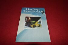 John Deere Snow Products For 1984 Dealer's Brochure YABE8
