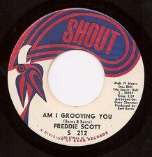 FREDDIE SCOTT Am I Grooving You / Never You Mind  R&B Soul 45 on Shout  Listen