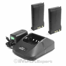 2+1 Battery Charger for KENWOOD KNB-16A KNB-17A KNB-22A TK280 TK380 TK480 TK481