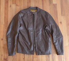 60's 70's Bates cafe racer leather jacket in fabulous condition. Flat track
